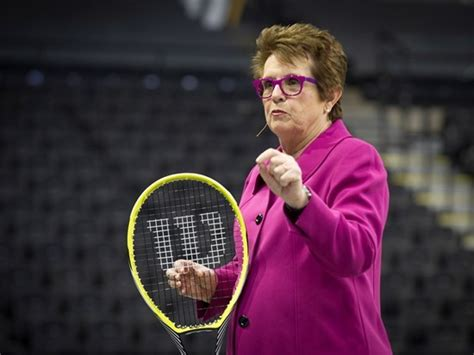 Tennis icon and equality advocate Billie Jean King urges