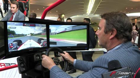 Nigel Mansell playing F1 racing video game - YouTube